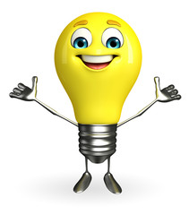 Light Bulb Character with happy pose