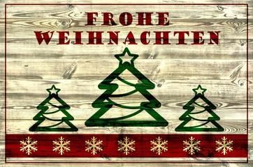 Frohe Weihnachten / Weihnachtskarte