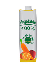Vegetable juice box Vector illustration
