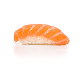 Sushi with Salmon isolated on white