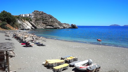 Agios Pavlos beach in Crete island, Greece