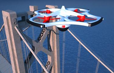 Drone, monitoraggio urbanistico, quadricottero