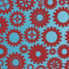 Gear vector background industry or teamwork