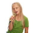 canvas print picture - Young girl singer