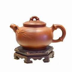 chinese purple sand teapot isolated