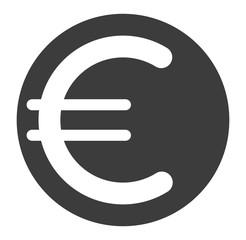 Eurozeichen, Symbol, schwarz