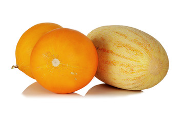 Three ripe juicy fragrant melon .