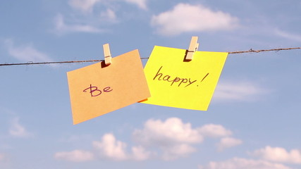 Positive thinking concept. Be Happy