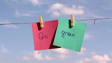 Positive thinking concept. Go Green