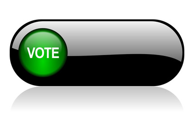 vote black glossy banner