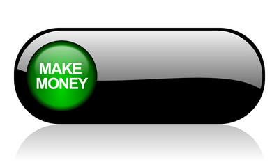 make money black glossy banner