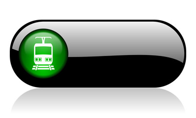 train black glossy banner