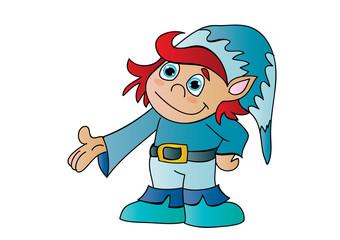 chłopiec krasnal elf