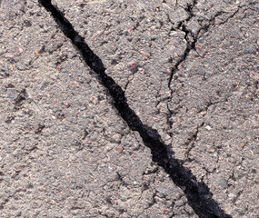 Cracked tarmac