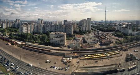 Летняя панорама Москвы