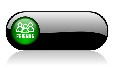 friends black glossy banner
