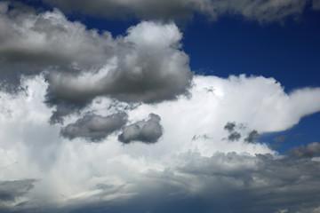 Cumulonimbus und Cumulus mediocris