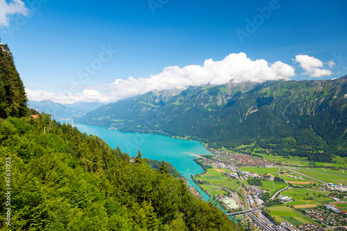 canvas print picture Interlaken und Brienzersee