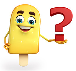 Candy Character With question mark