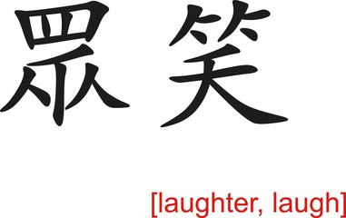 Chinese Sign for laughter, laugh
