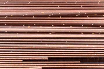 Rusty steel rail