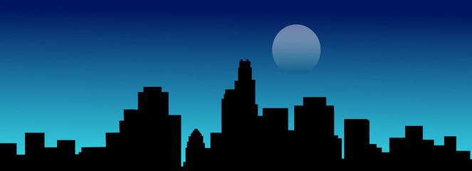 Los Angeles at Night-Vector