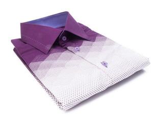 shirt. mens shirt folded on a background
