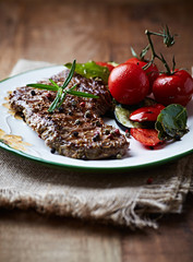 Grilled Beef with Cherry Tomato and Herbs