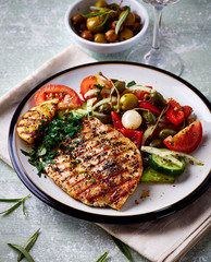 Grilled Turkey Fillet with  Salad
