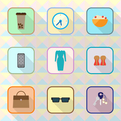 Icons vector collection on abstract background