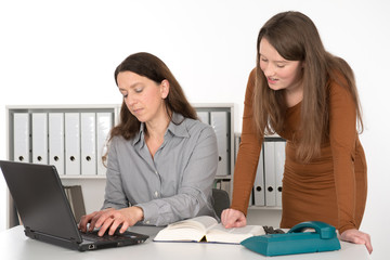 two women working in the office