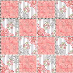Abstract seamless lace floral pattern texture coral