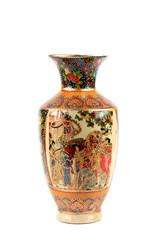 Porcelain Vase On White Background..