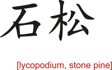 Chinese Sign for lycopodium, stone pine