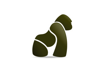 Gorilla wellness  fitness logo