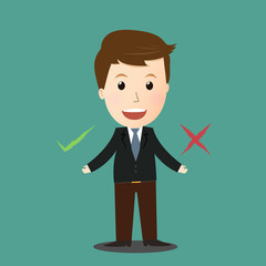 Vector of Business man check mark