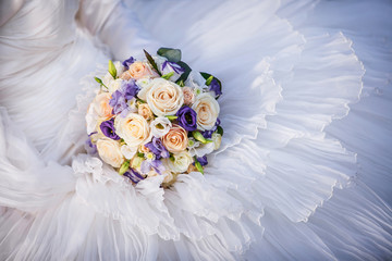 Wedding bouquet close-up