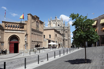 Square in Toledo, Castilla-La Mancha, Spain