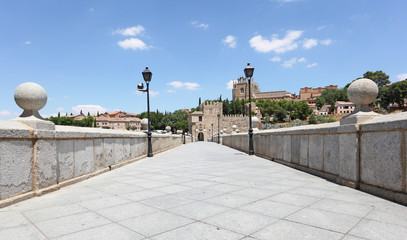San Martin bridge in Toledo, Castilla-La Mancha, Spain