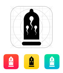 Sperm in Condom icon.