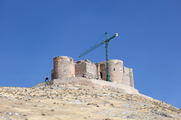 Ancient castle in Consuegra, Castilla-La Mancha, Spain