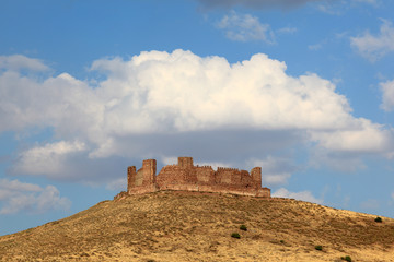 Almonacid castle ruin in Castilla-La Mancha, Spain