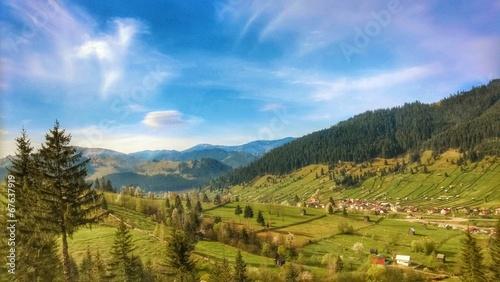 Landscape bucovina, romania village