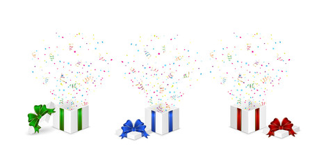Presents with confetti