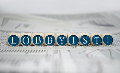 Würfel mit Lobbyist