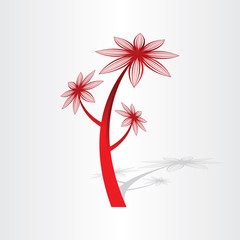 red flower plant design