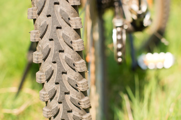 Mtb bicycle tire tread