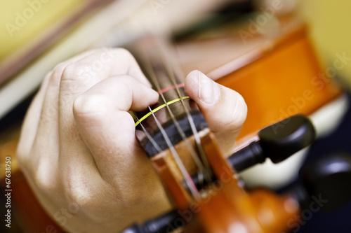 hands holding violin