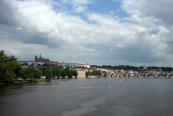 View of Prague, Czech republic. Vista de Praga, República Checa.