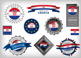 Made in Croatia, Croatia Flag, Seal (Vector Art)